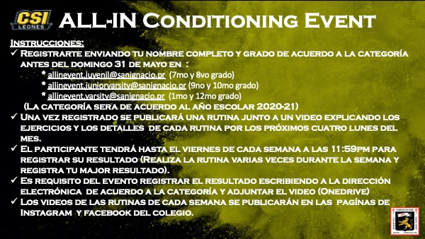 CSI All-In Conditioning Event